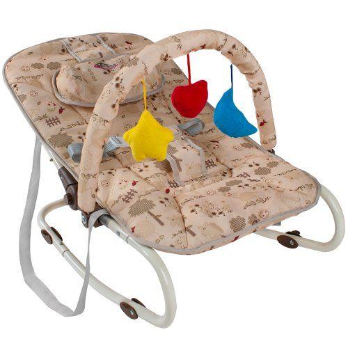 TecTake Hamaca para bebé Hamaquita + Arco de juego Nuevo Beige