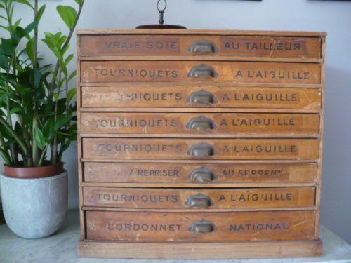 Superbe Ancien Meuble De Metier La Soie De Paris Mercerie Meuble De Metier Mercerie Mobilier De Salon