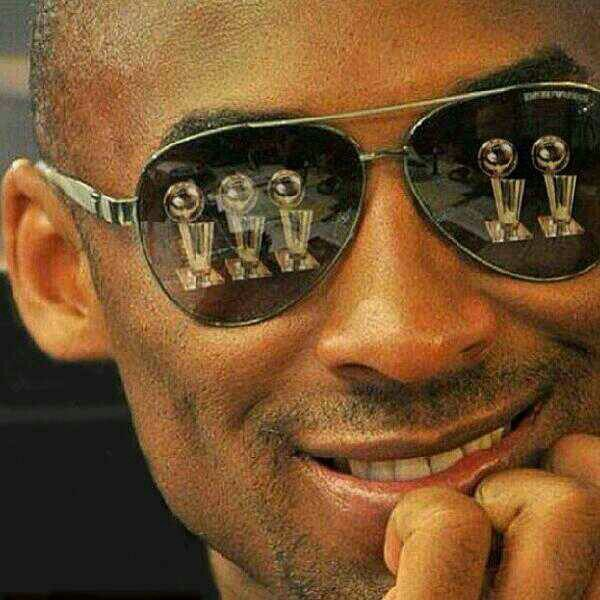 good luck this season; hope you get to add one more trophy to what you 'see' in your view - Kobe Bryant, Champion