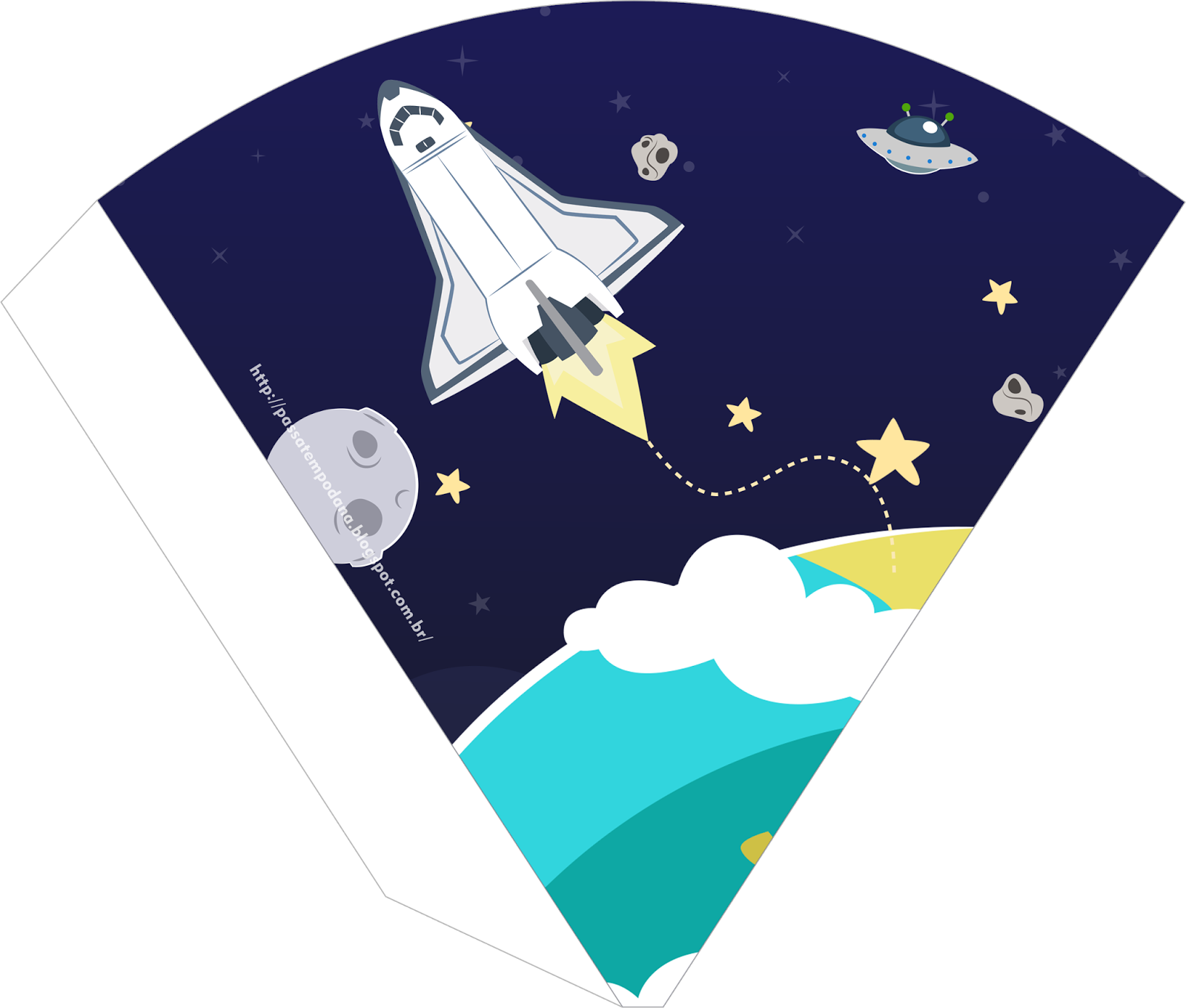 astronaut party printables - 736×625