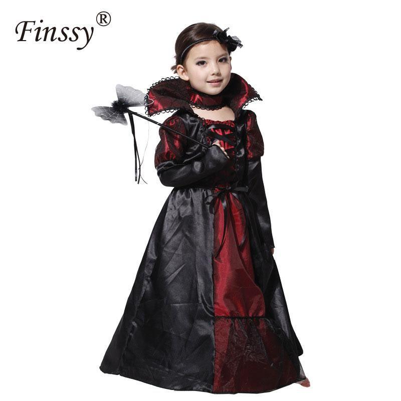 Princess Vampire Costumes For Girls Party Dress Halloween Costume