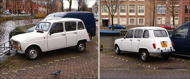 De Renault 4 (1961 - 1991) Op de Ruysdaelkade in Amsterdam...