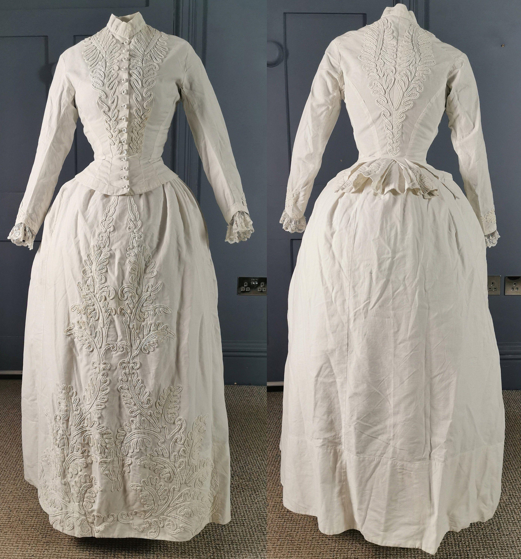 Beautiful Braid Trim Mid 1880s Summer Bustle Dress Victorian Etsy Victorian Dress Bustle Dress Dresses [ 3000 x 2797 Pixel ]
