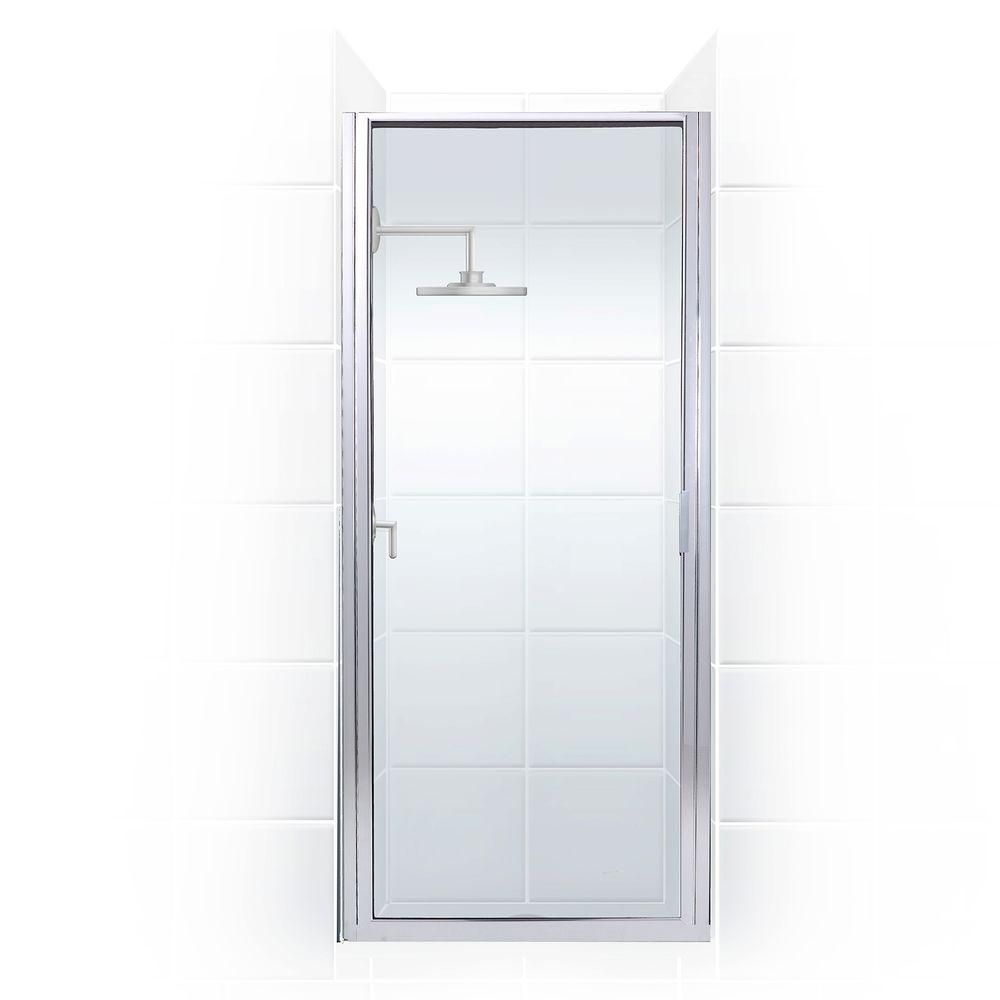 Coastal Shower Doors Paragon 23 In To 23 75 In X 83 In Framed Continuous Hinged Shower Door In Chrome With Clear Glass Coastal Shower Doors Shower Doors Clear Glass