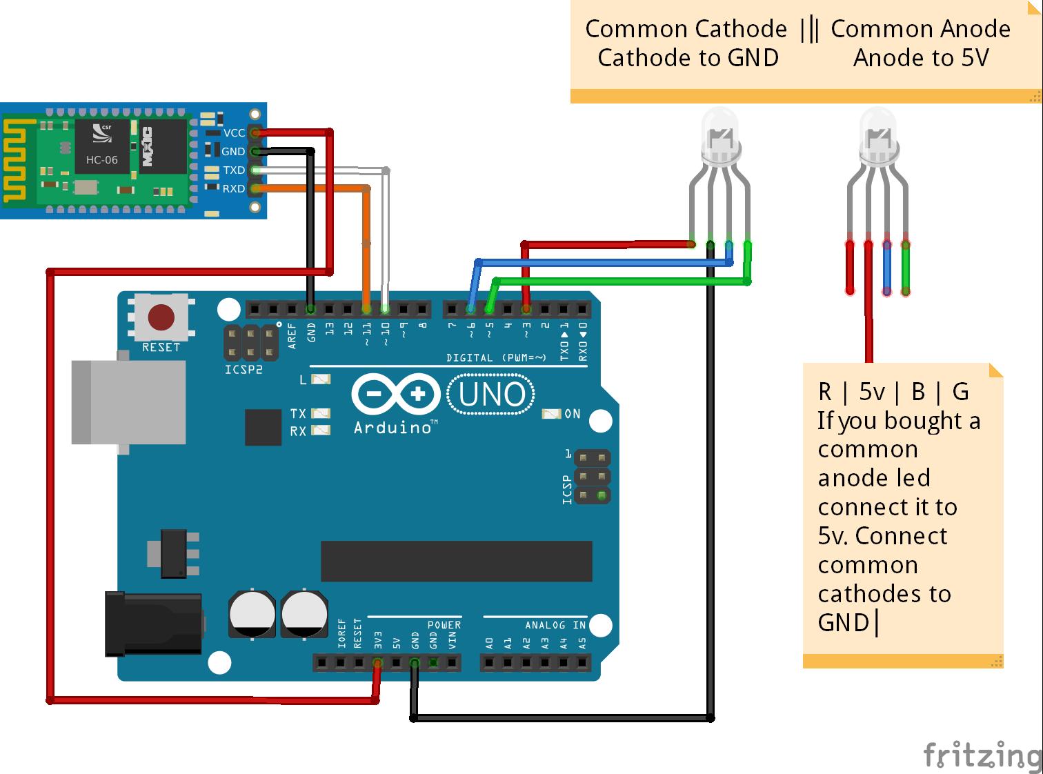 Arduino Bluetooth RGB led control android app Arduino