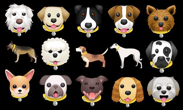 Dog Emoji Keyboard Lets You Type In Breeds Of Canine Dog Emoji Cute Puppies Images Puppy Cuddles