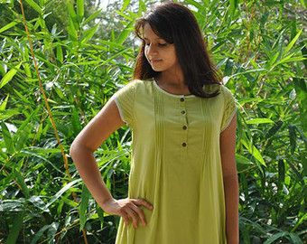 Premium Voile Rose Color Tunic / Kurti / Top with by VasthraKurtis