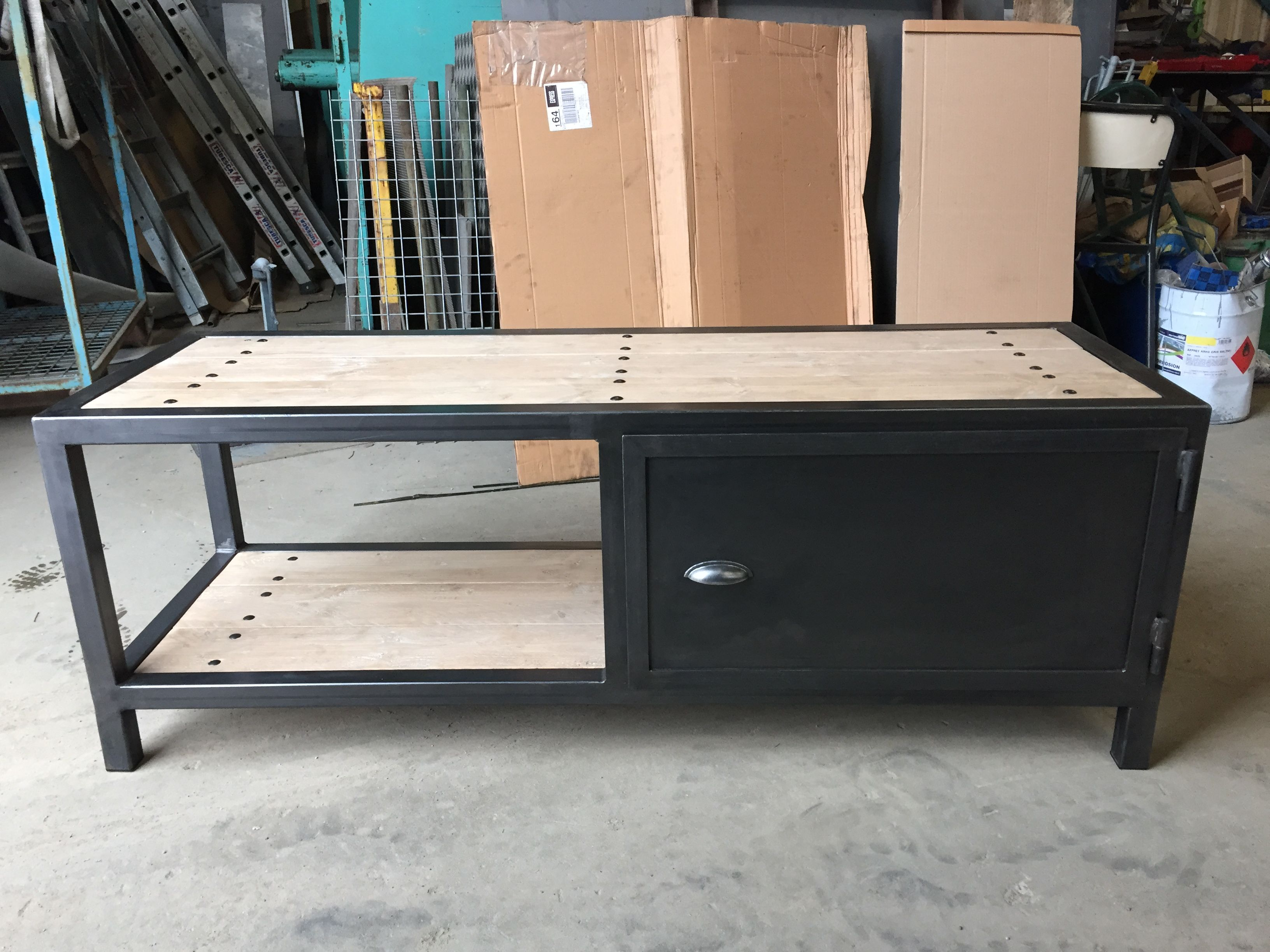 meuble fer bois industriel
