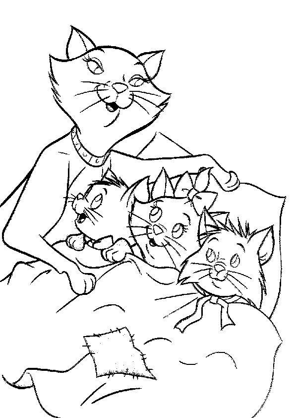 Malvorlagen Katze