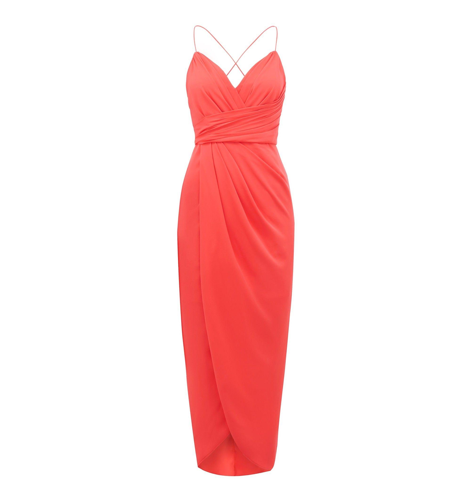 2892d2e71bd Charlotte Drape Maxi Dress Pacific Coral - Womens Fashion