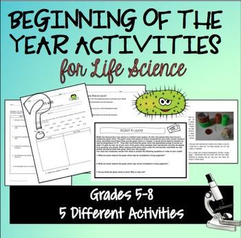 beginning of the year activities for life science a well activities and high schools. Black Bedroom Furniture Sets. Home Design Ideas