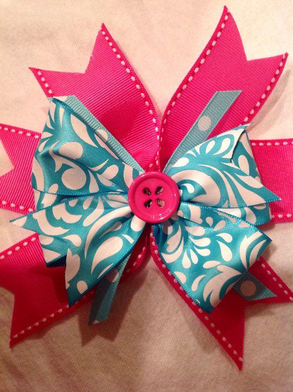 Handmade pink bow on Etsy, $4.50