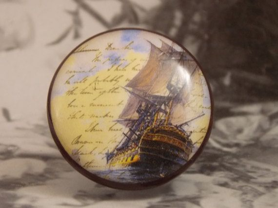 1-1/2 Nautical Dresser Knobs Series 5 Postcard by dynastyprints