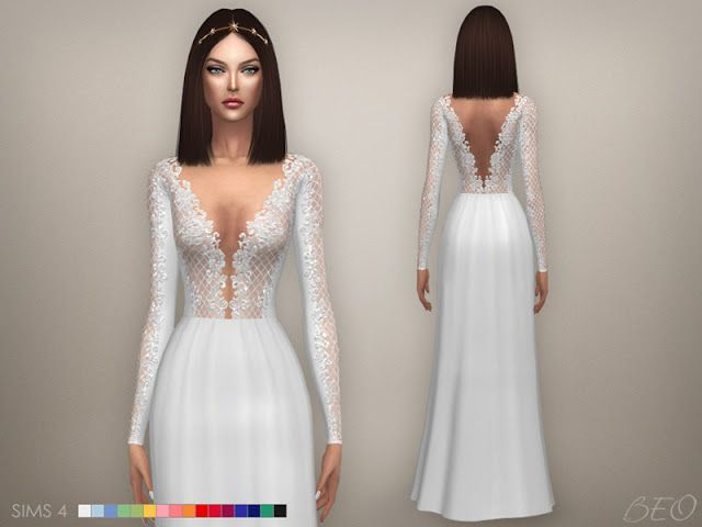 32a6c01106a Sims 4 CC s - The Best  Rita Dresses and Jumpsuit by BEO