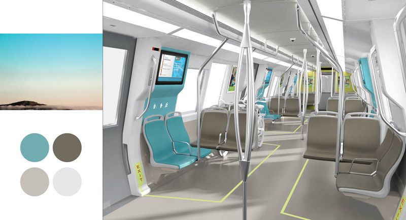New Bart Fleet Of The Future Concept Colors Transport
