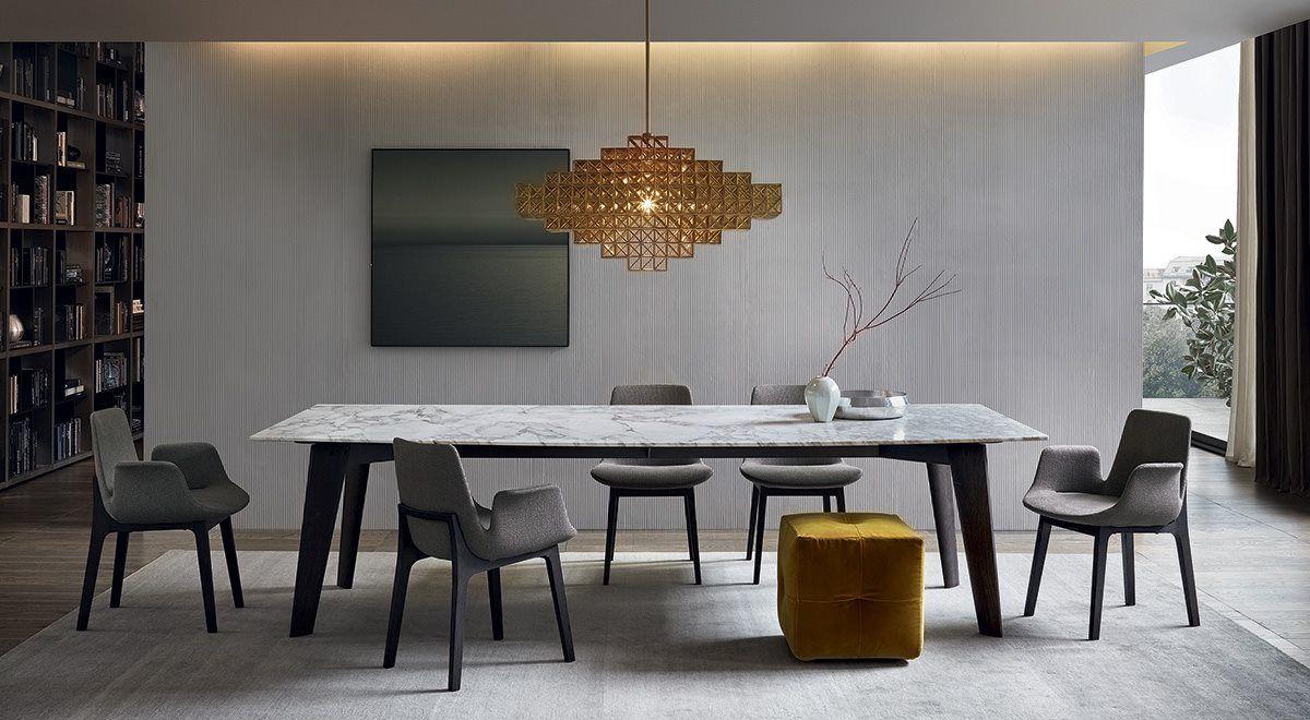 Poliform: Howard dining table http://www.studioitalia.co ...
