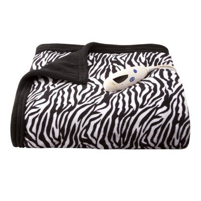 Heated Throw For The Home Pinterest Heated Throw Plush And Target Cool Zebra Print Electric Throw Blanket