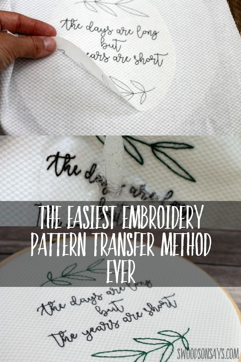 Trick for how to transfer embroidery patterns in embroidery