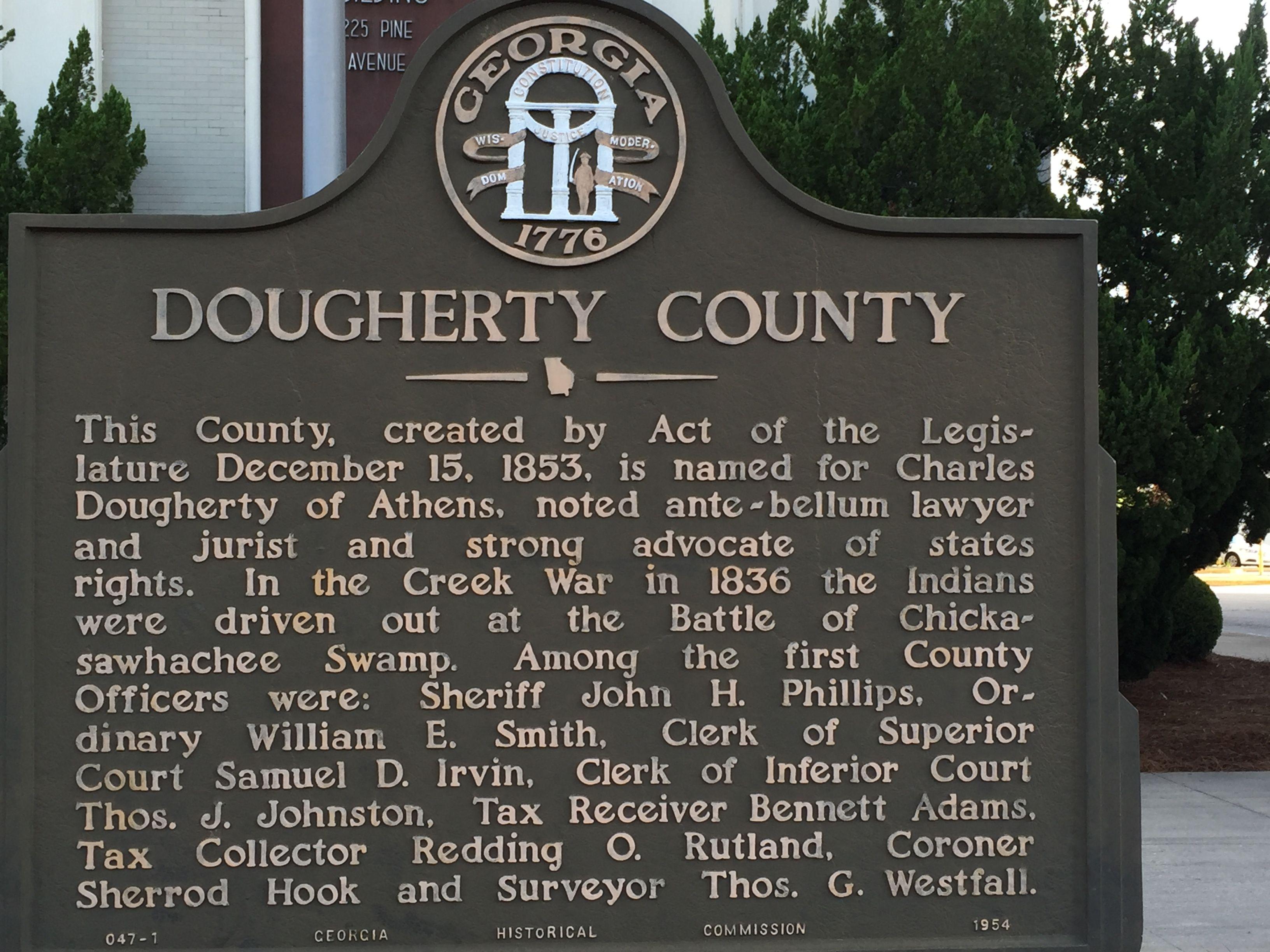 Dougherty County Historic Sign. Albany, Paul