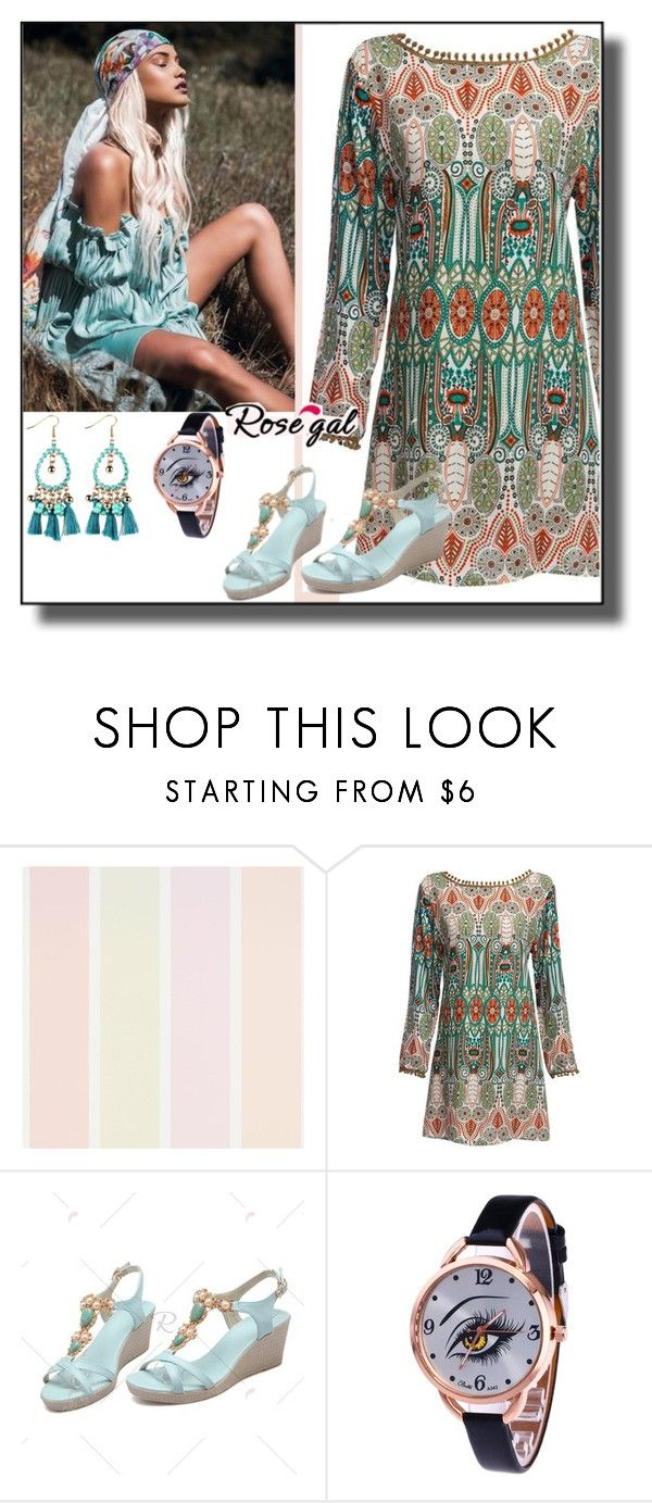 """""""Tassel Dress  Rosegal II/60"""" by dzemila-c ❤ liked on Polyvore featuring rosegal"""