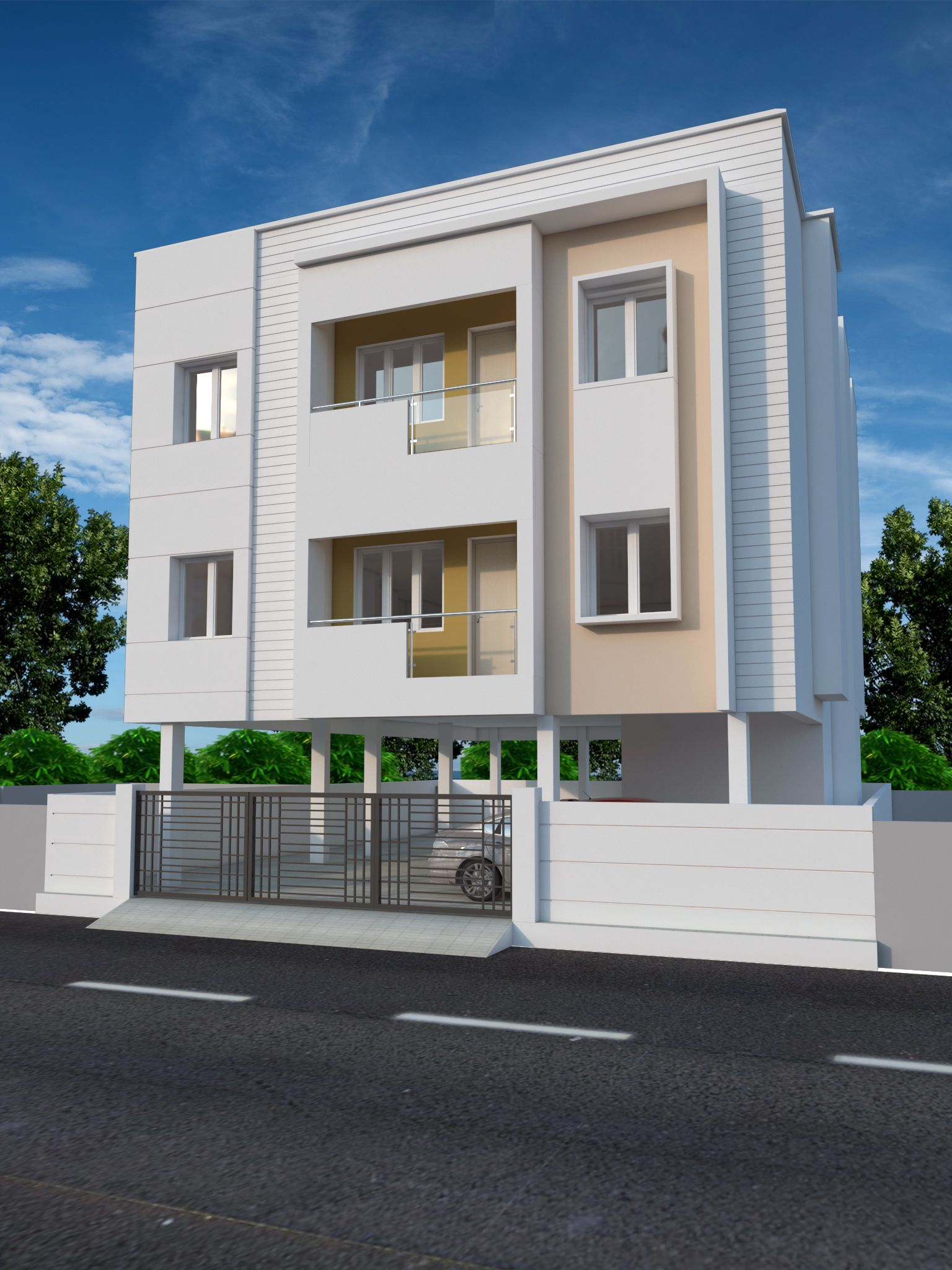 Launching 4 Unit Apartment On 27th July 2018 Stilt 2 Floors 2bhk 930 Sq Ft Each Annal Kamaraja Apartment Building Residential Apartments Apartment Plans