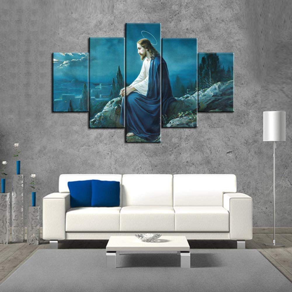 Amazon Com Jesus In Gethsemane Paintings Extra Large
