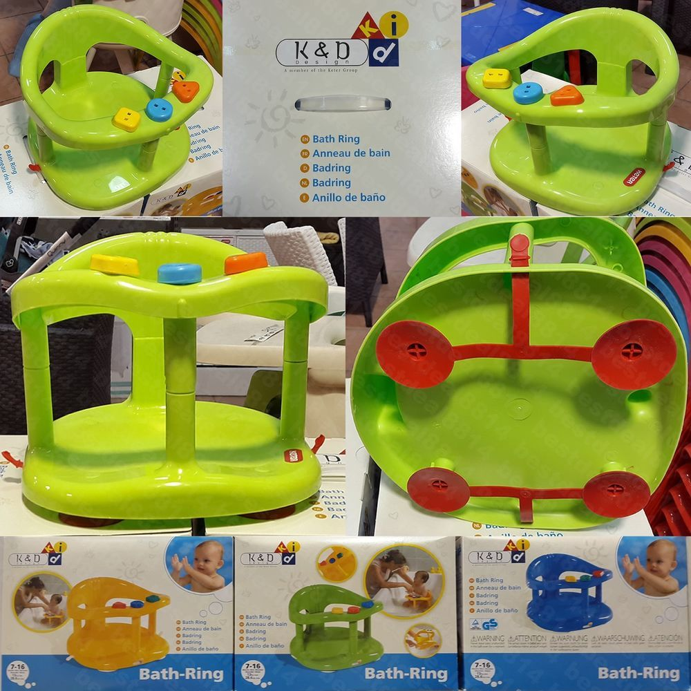 New Baby Bath Tub Ring Seat KETER With Anti-Slip Suction Cups Shower ...