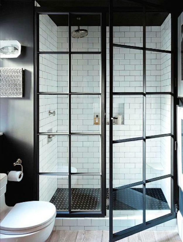 Les plus belles salles de bain de Pinterest Carreaux blancs