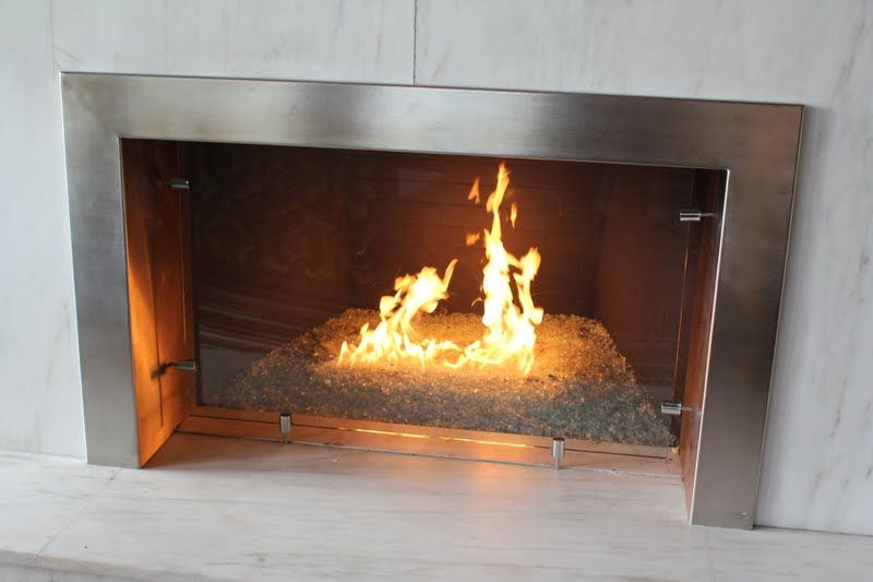 Gas Fireplace With Crushed Gl Embers Way Cool