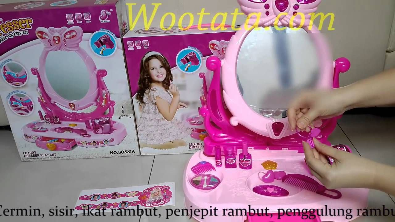 Mainan Meja Rias Anak Perempuan Dresser Make Up Playset Mainan