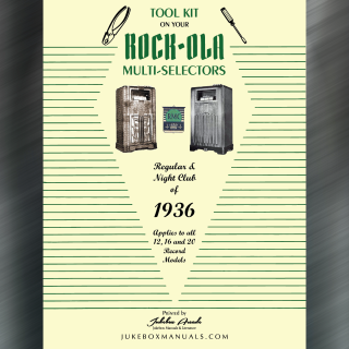 Printed Jukebox Manuals - Jukebox Arcade Rock-Ola Regular