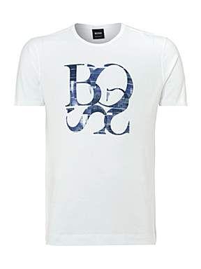 acef7ca2d Hugo Boss, Logo t-shirt, £50.00   T Shirts in 2019   Shirts, Polo t ...