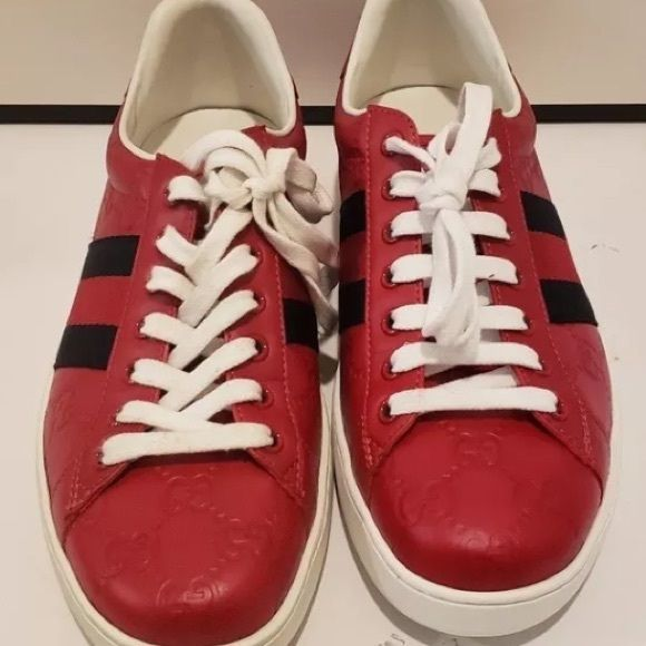 c26f0b191f8 Gucci ace red leather signature Best deals here (248) 923-1278 I have