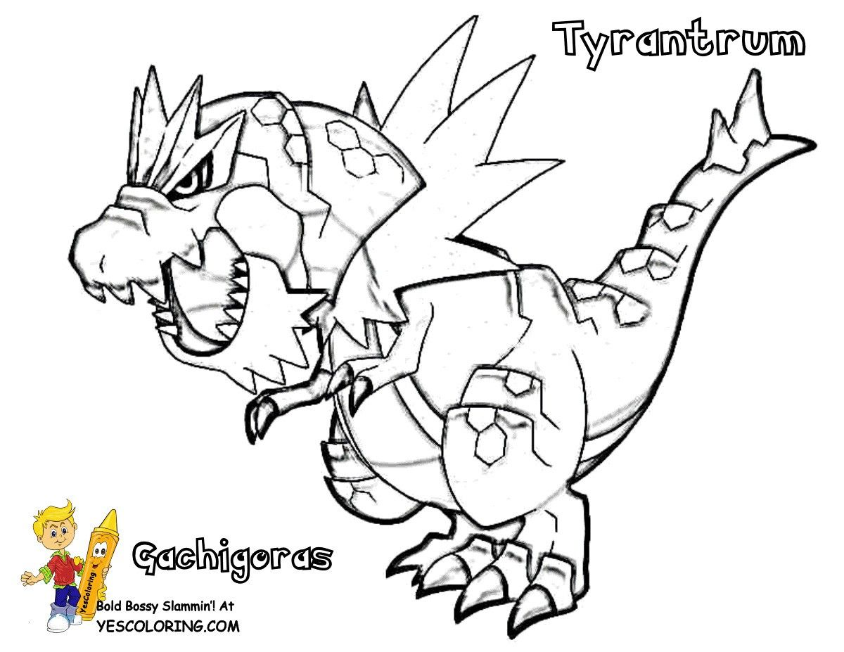 Pokemon Tyrantrum Coloring Pages