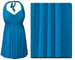 Turquoise Plus Size & Supersize Halter 2pc Swimdress  0x 1x 2x 3x 4x 5x 6x 7x 8x