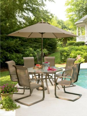 garden oasis patio chairs baby doll high grandview 7 piece dining set 1 glass table 6 six 324 99