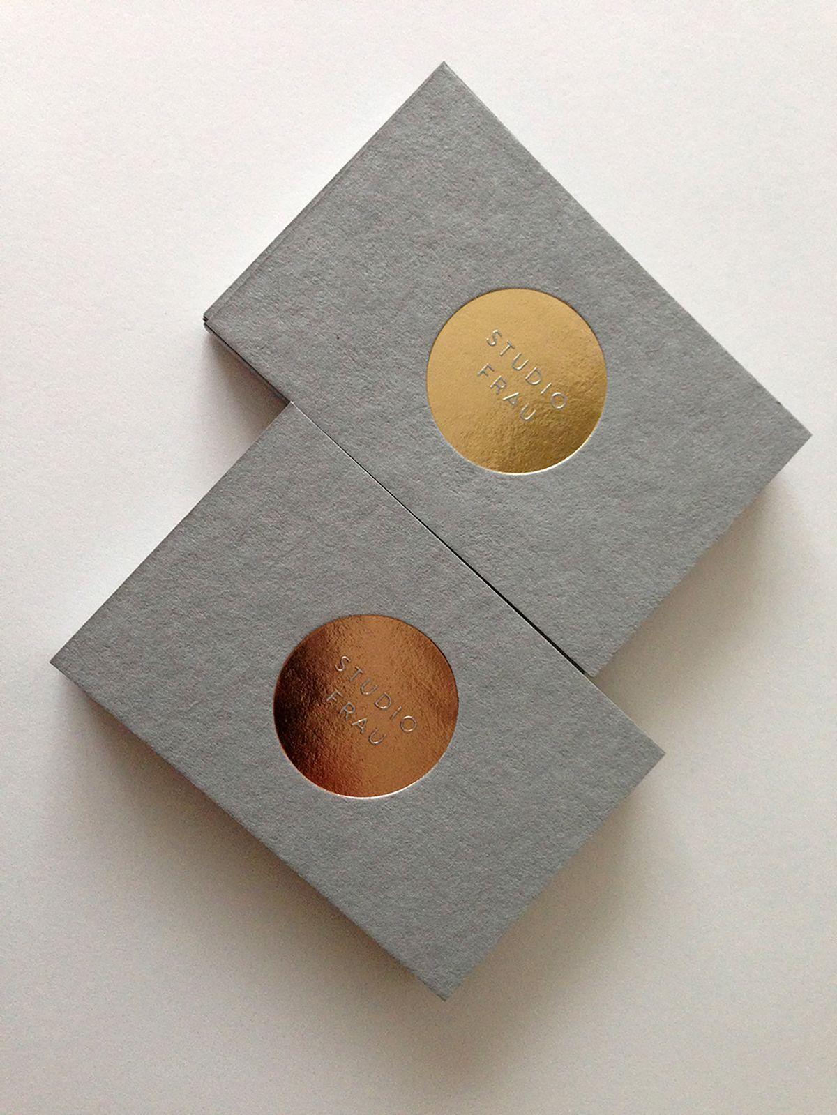 Studio frau business cards on behance interessantes for Visitenkarten ideen