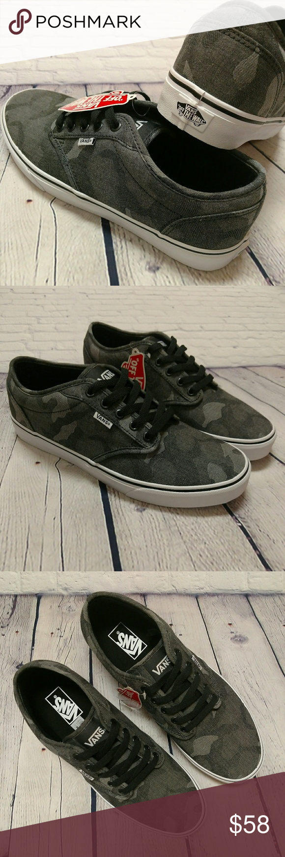 7a033fc36d Vans Atwood Camo Phantom Drizzle Skate Shoe 11 New with tag
