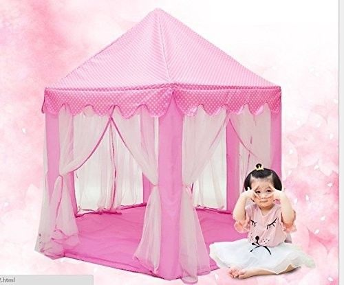 Princess Castle Playhouse Tent Girls Pink Indoor Canopy Play House Little Girls #IsPerfect  sc 1 st  Pinterest & Princess Castle Playhouse Tent Girls Pink Indoor Canopy Play House ...