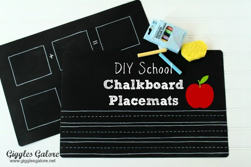 Diy Chalkboard Placemats Back To School Blog Hop With 10 Chalkboard Ideas Chalkboard Placemats Teacher Gift Tags Chalkboard Fabric
