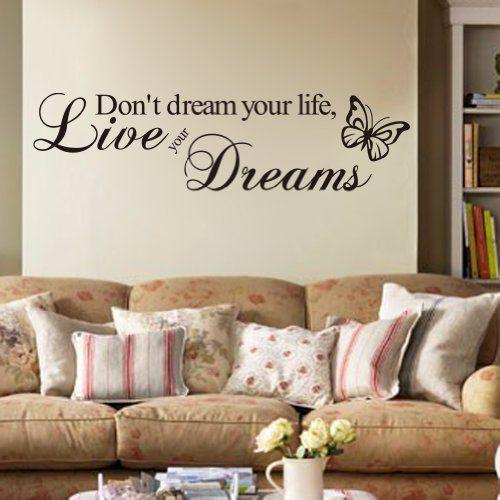 Himanjie - Adhesivo decorativo para pared, diseño con texto en