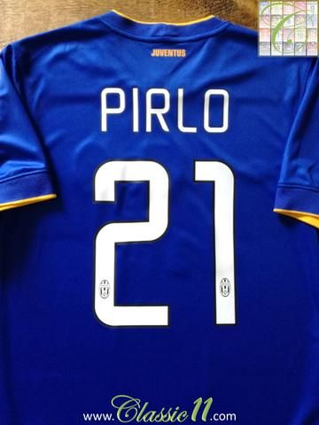 a3b58e468d8 Official Nike Juventus away football shirt from the 2014 2015 season.  Complete with Pirlo  21 on the back of the shirt and Scudetto shield on the  chest.