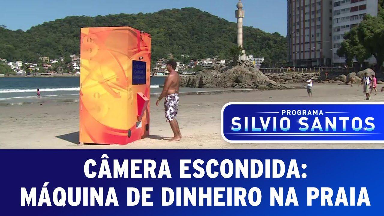 Camera Escondida Maquina De Dinheiro Na Praia Maquina De