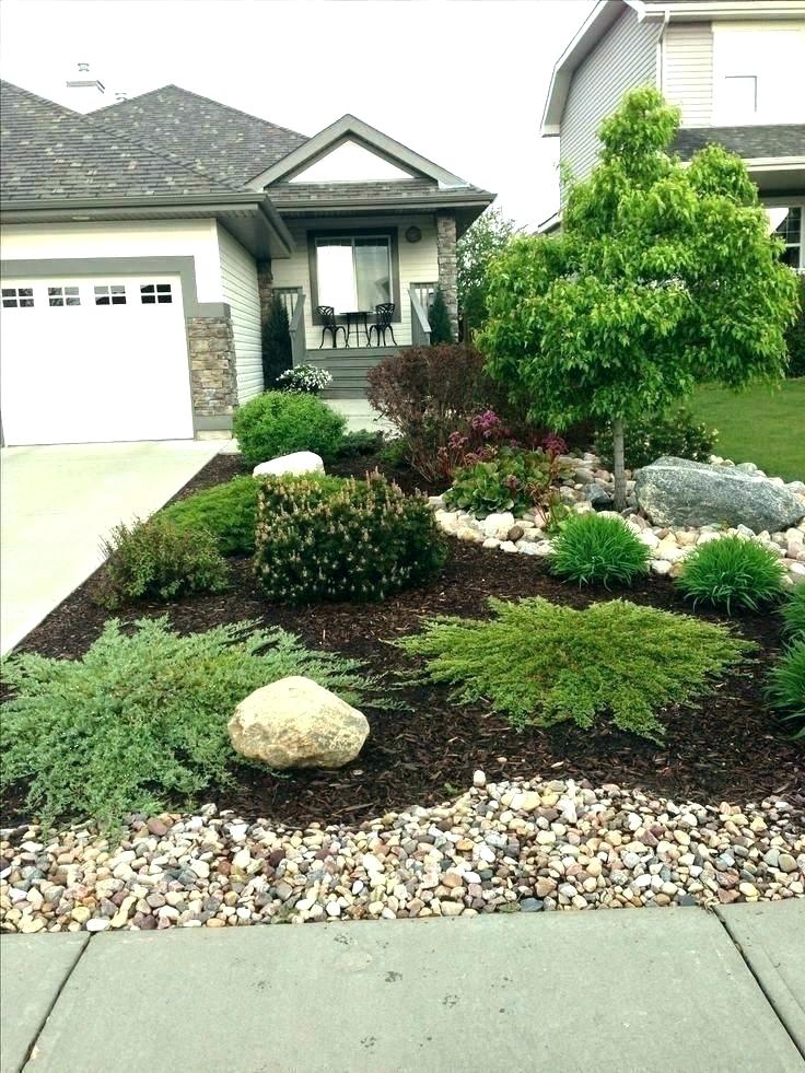 Landscape Ideas With Rocks Front Yard Buy Mulch Landscape With And