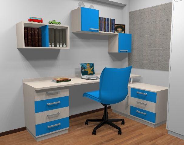 Escritorios juveniles decorando home office bedroom for Dormitorios juveniles con escritorio