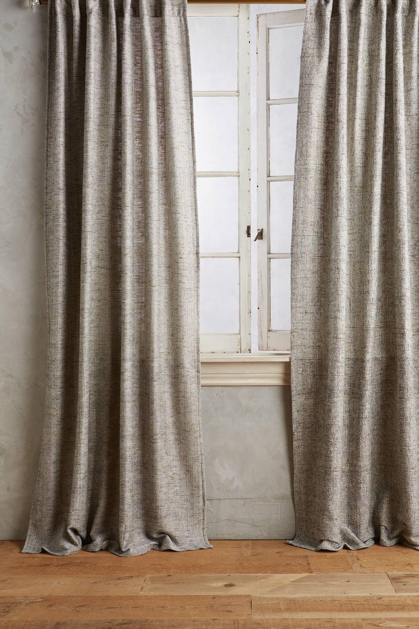 Slub Silk Curtain  Anthropologiecom