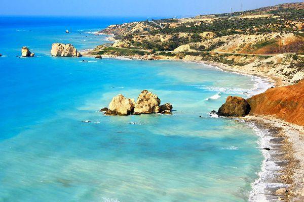 Le Rocher D Aphrodite La Cote Ouest De Polis A Limassol Chypre