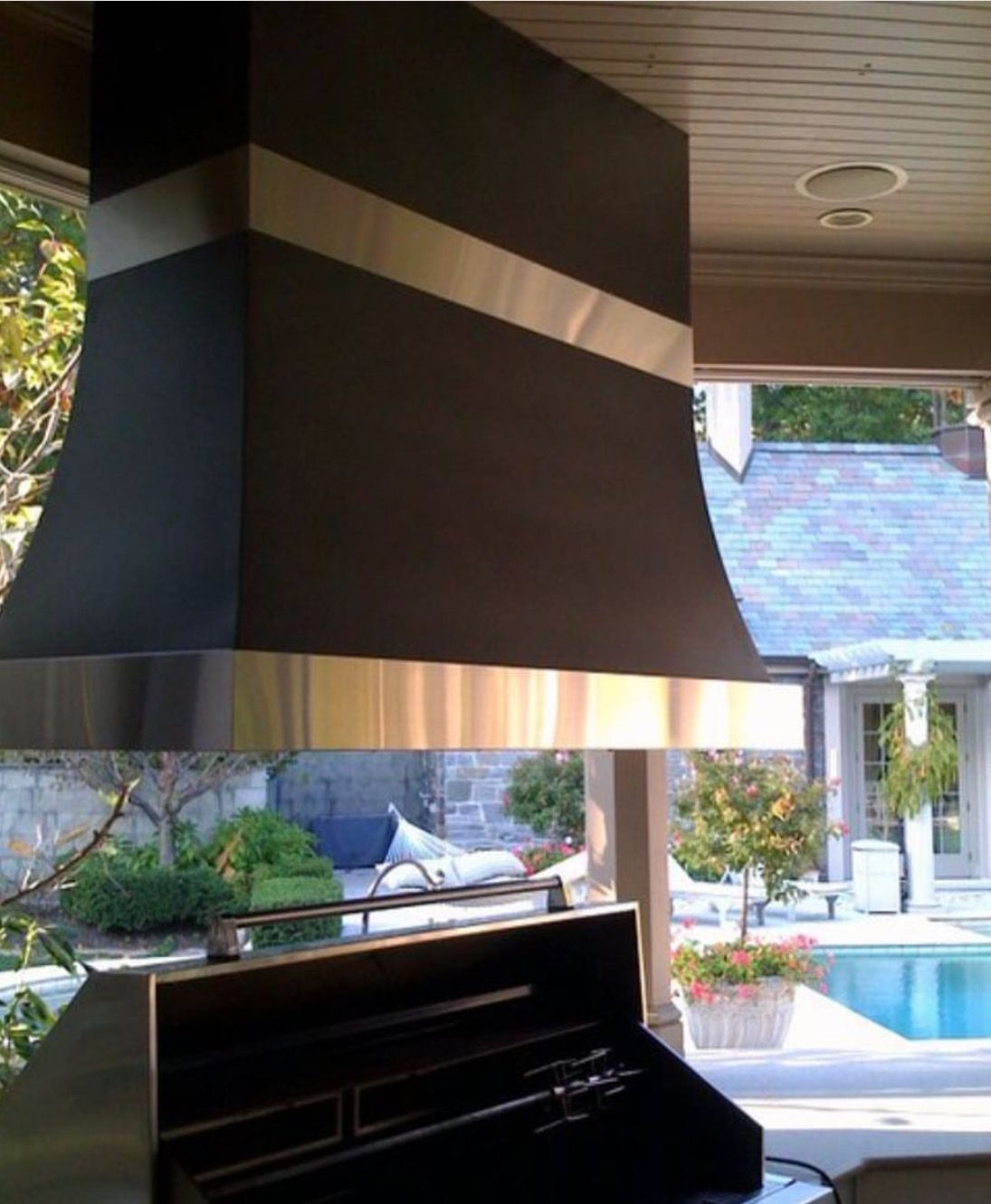 Outdoor Island Range Hood over gas grill. Very important