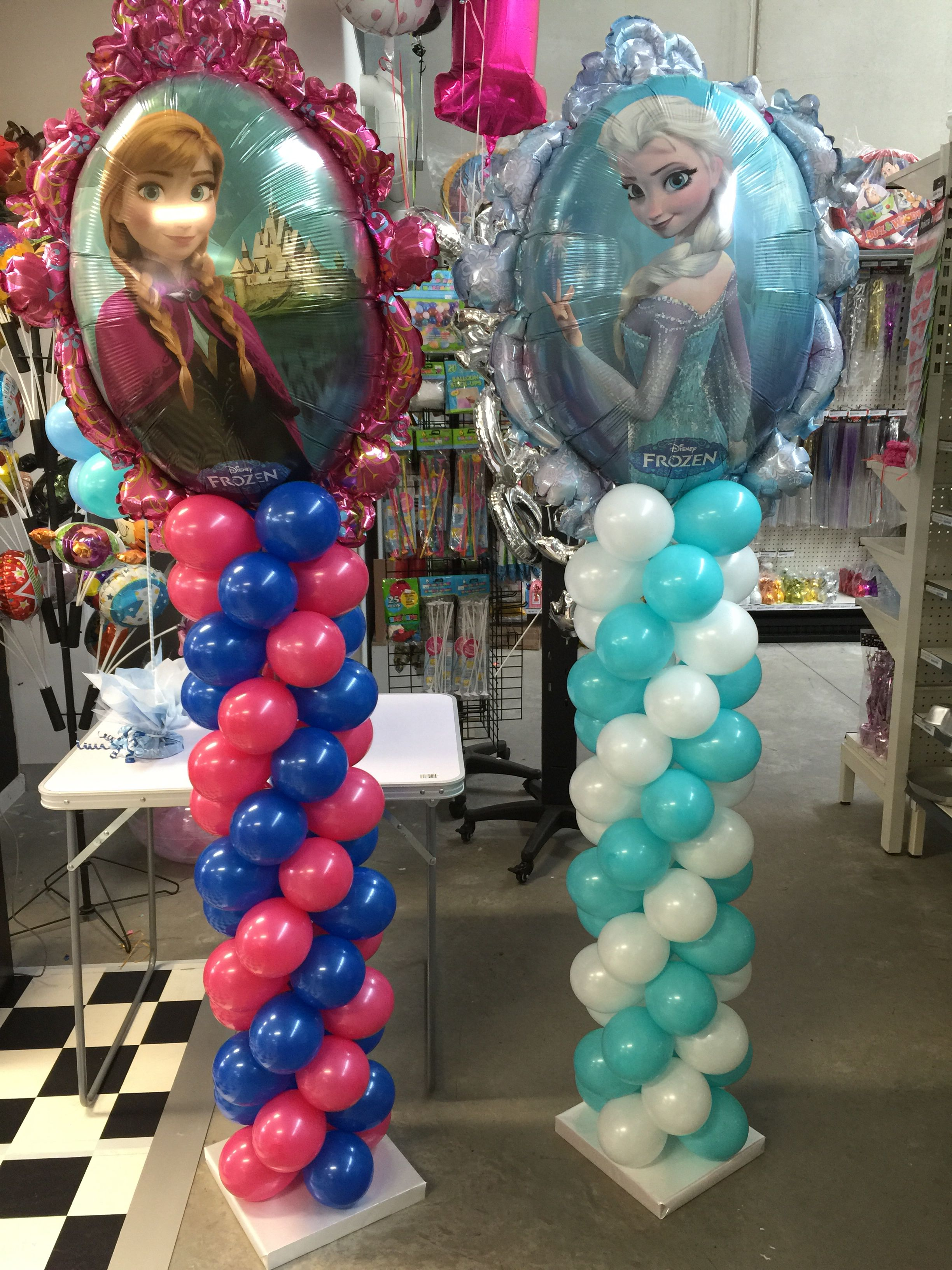 Frozen balloon decorations balloons pinterest