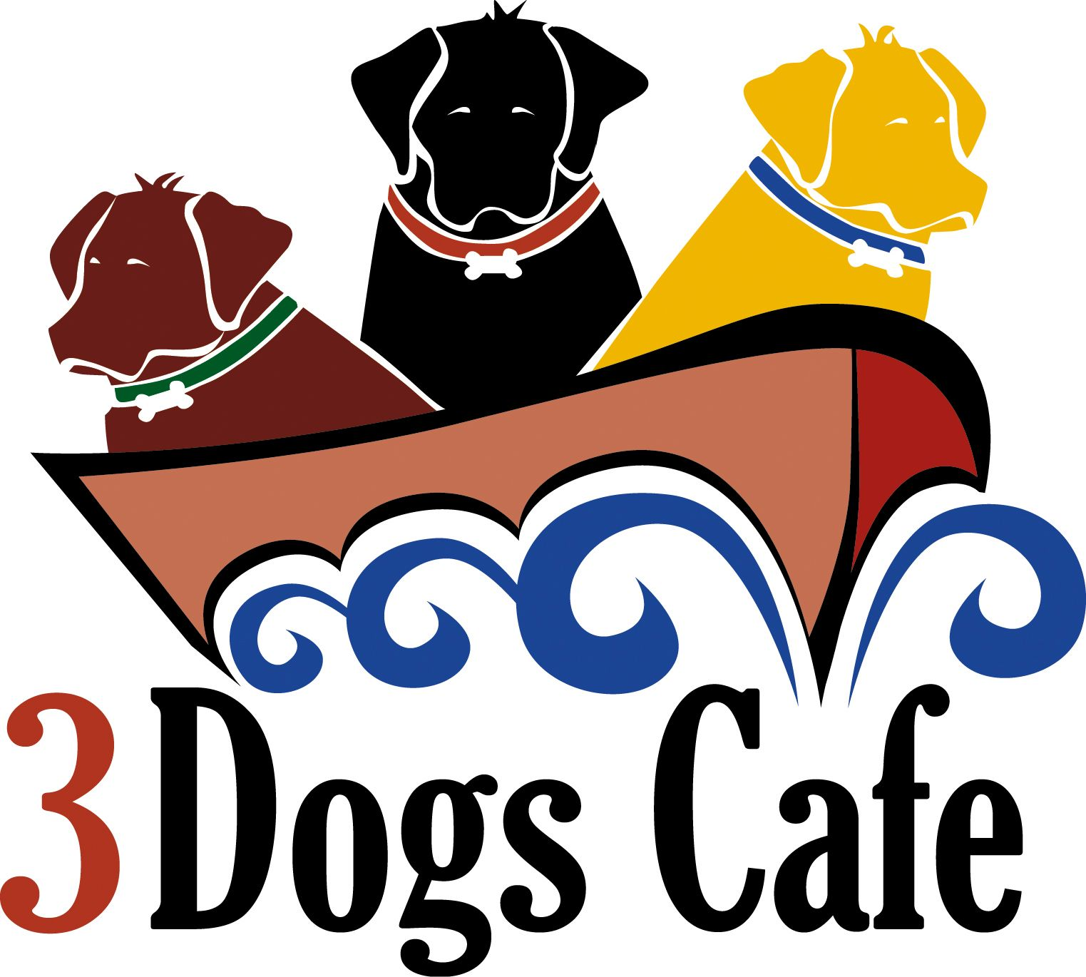 Our Client Three Dogs Cafe Came To Us Wanting A Logo That